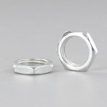 1/4ips. White Zinc Steel Hex Head Nut