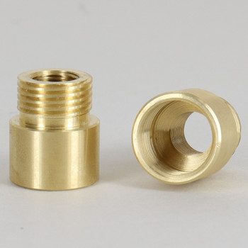 3/8ips Male X 3/8ips Female Brass Straight Nozzle with 1/8ips Tapped Center Hole