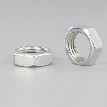1/4ips. White Zinc Plated Steel Heavy Duty Hex Head Nut
