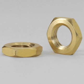 5/16-27 UNS Hex Head Nut- Unfinished Brass