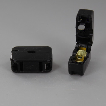 Black - Add-A-Tap In Line Pass Through Click-On Female Non Polarized Outlet