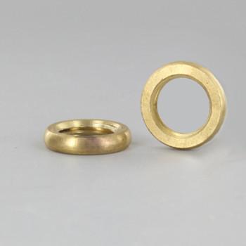 1/4-18ips. Threaded Beaded Round Unfinished Brass Locknut