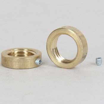 1/4ips Female Threaded Unfinished Brass Nut with 8/32 Threasded Set Screw