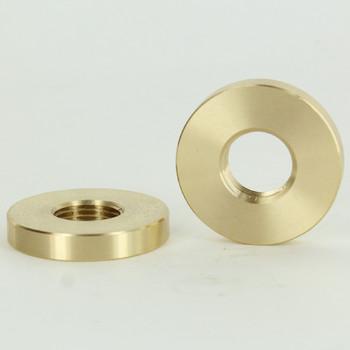 1-1/2in Diameter - 3/8ips Threaded Plain Round Brass Nut.