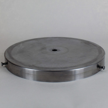 8in Diameter Screw Less Face Mount Steel Round Canopy - Unfinished Steel