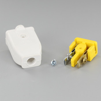 White - Standard Grade Thermoplastic Spring Action Non-Grounding Connectors