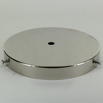 6in Diameter Screw Less Face Mount Steel Round Canopy - Polished Nickel Finish