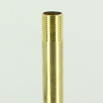 6in Long X 3/8ips (5/8in OD) Male Threaded Unfinished Brass Hollow Pipe Stem.