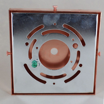 5in Screw Less Face Mount Steel Square Canopy - Unfinished Copper