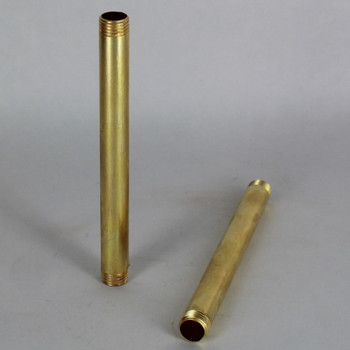 11in. Unfinished Brass Pipe with 1/4ips. Thread