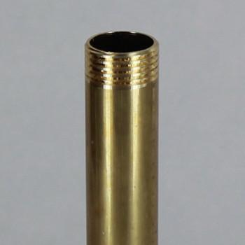 12in Long X 3/8ips (5/8in OD) Male Threaded Unfinished Brass Pipe Stem