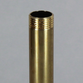 10in Long X 3/8ips (5/8in OD) Male Threaded Unfinished Brass Pipe Stem