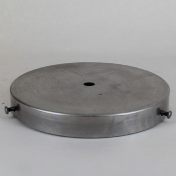 6in Diameter Screw Less Face Mount Steel Round Canopy - Unfinished Steel