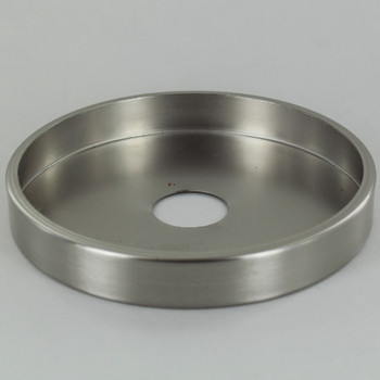 1-1/16in Center Hole - Plain Brass Canopy - Brushed/Satin Nickel Finish