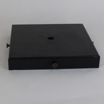 5in Screw Less Face Mount Steel Square Canopy - Black Powdercoat Finish