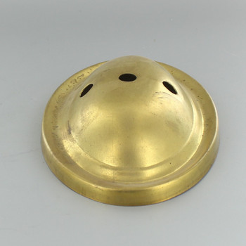 1/8ips Slip Center and Two Arm Holes Oval Stamped Backplate - Unf Brass