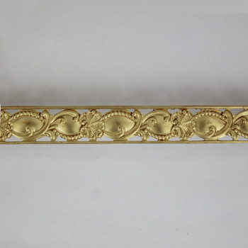 5/8in Brass Rococo Perforated Design Banding - Sold in 10Ft Lengths