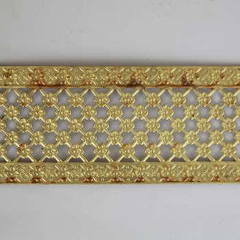 1-7/8in Wide Brass Floral Design Banding - Sold in 10Ft Lengths