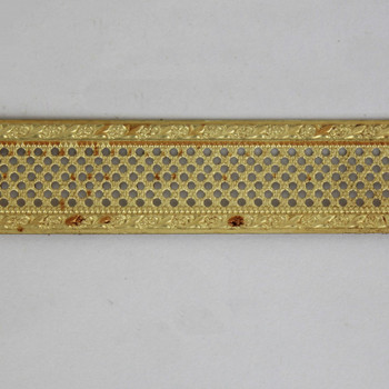 3/4in. Crosshatch Perforated With Daisy Borders Banding Brass - Sold in 10FT Lengths
