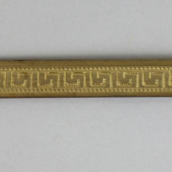 1/4in Brass Greek Key Solid Banding - Sold in 10Ft Lengths