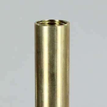 10 in UNFINISHED BRASS PIPE WITH 3/8 IPS FEMALE THREADS (5/8in Deep Thread)