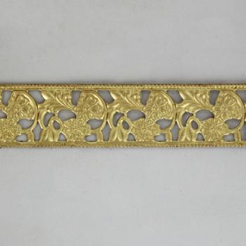 13/16in Brass Floral Design Banding - Sold in 10Ft Lengths