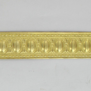 1-3/16in Brass Egg and Dart Solid Banding - Sold in 10Ft Lengths