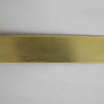 1in Brass Plain Solid Banding - Sold in 10Ft Lengths