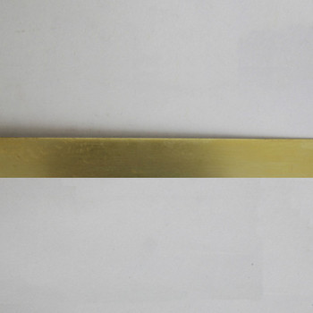 1/2in Brass Plain Solid Banding - Sold in 10Ft Lengths