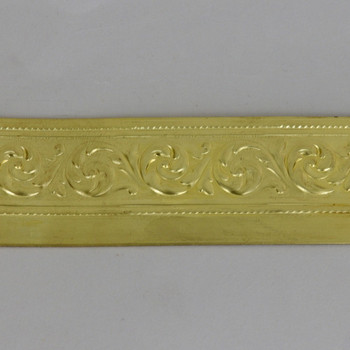 1.23in Height Solid Ornamental Brass Banding
