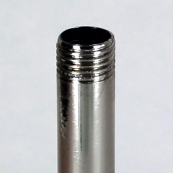10in. Nickel Plated Finish Pipe with 1/4ips. Thread