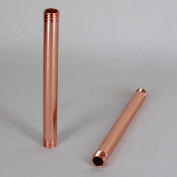 10in Long X 1/4ips (1/2in OD) Male Threaded Polished Copper Finish Steel Pipe