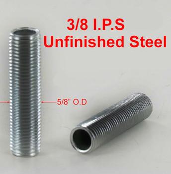 36in. Unfinished Steel 3/8ips. Running Thread