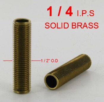 36in. X 1/4ips Unfinished Brass Fully Threaded Running Thread