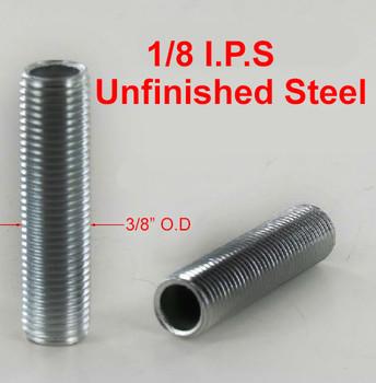 36in. Unfinished Steel 1/8ips. Running Thread