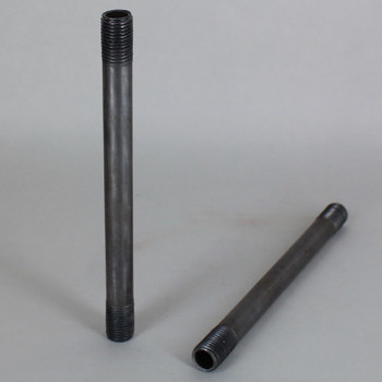 6in. Unfinished Steel  Pipe with 1/4ips. Thread