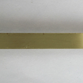 3/8in Brass Plain Solid Banding - Sold in 10Ft Lengths