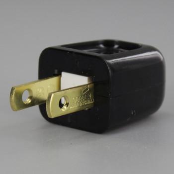 Black - Non Polarized, Non-Grounding, Easy Lamp Plug for 18-2 SPT-1 Wire