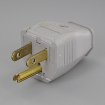 Gray - 2 Pole 3-Wire Grounding Screw Terminal Connection Plug