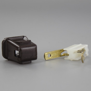 Brown - Leviton - Polarized, Non-Grounding, Quick & Easy Lamp Plug for 18-2 SPT-1 Wire