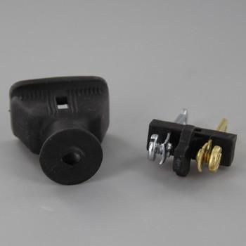 Black - Polarized Non-Grounding Rubber Straight Blade Plug