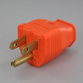 Orange - 2 Pole 3-Wire Grounding Screw Terminal Connection Plug