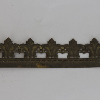 1in Height Crested Filigree Brass Banding