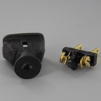 Black - Non-Polarized Non-Grounding Rubber Straight Blade Plug
