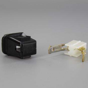 Black - Leviton - Polarized, Non Grounding, Quick & Easy Lamp Plug for 18-2 SPT-1 Wire