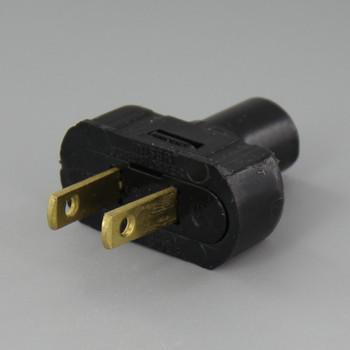 Black - Nylon Non-Polarized, Non-Grounding Lamp Plug with Screw Terminals