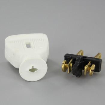 White - Non-Polarized Non-Grounding Rubber Straight Blade Plug