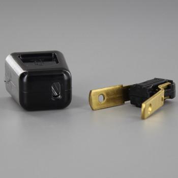 Black - Polarized, Non-Grounding, Easy Lamp Plug for 18-2 SPT- 2 Wire