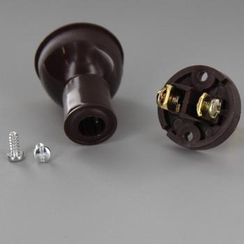 Brown - Round, Non-Polarized, Non-Grounding Thermoplastic Lamp Plug
