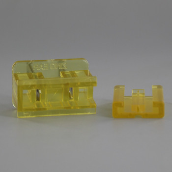 Gold - Polarized, Non-grounding, Male Gilbert / Slide Together Plug For Use With 18/2 SPT-2 Wire